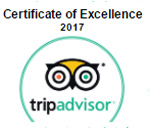 Trip Advisor widget recognizing The Morton Arboretum with a 2017 Certificate of Excellence